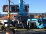 House being craned onsite